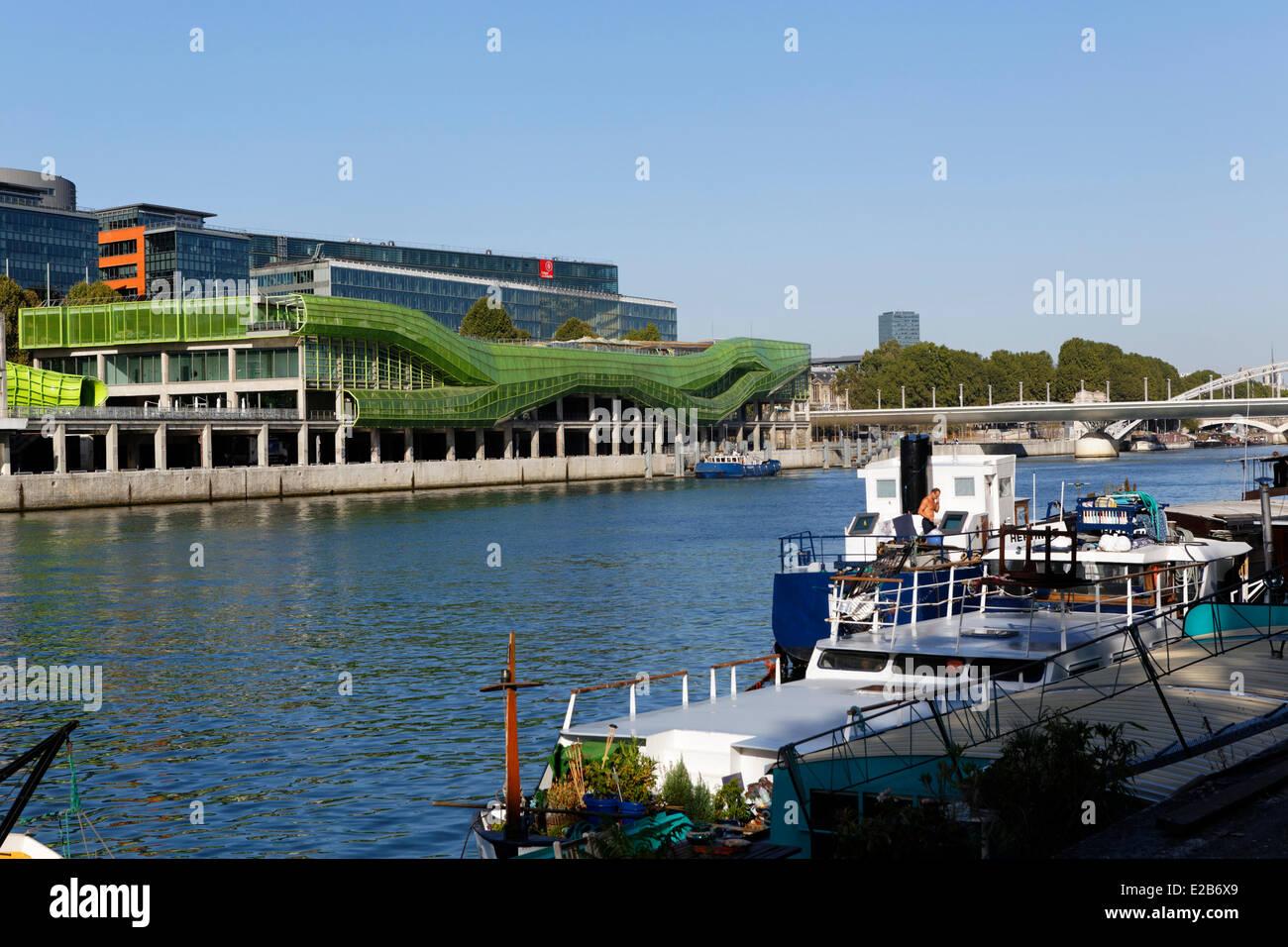 Frankreich, Paris, Quai d ' Austerlitz, Cite De La Mode et du Design (Mode- und Design-Stadt), Industriegebäude Stockbild