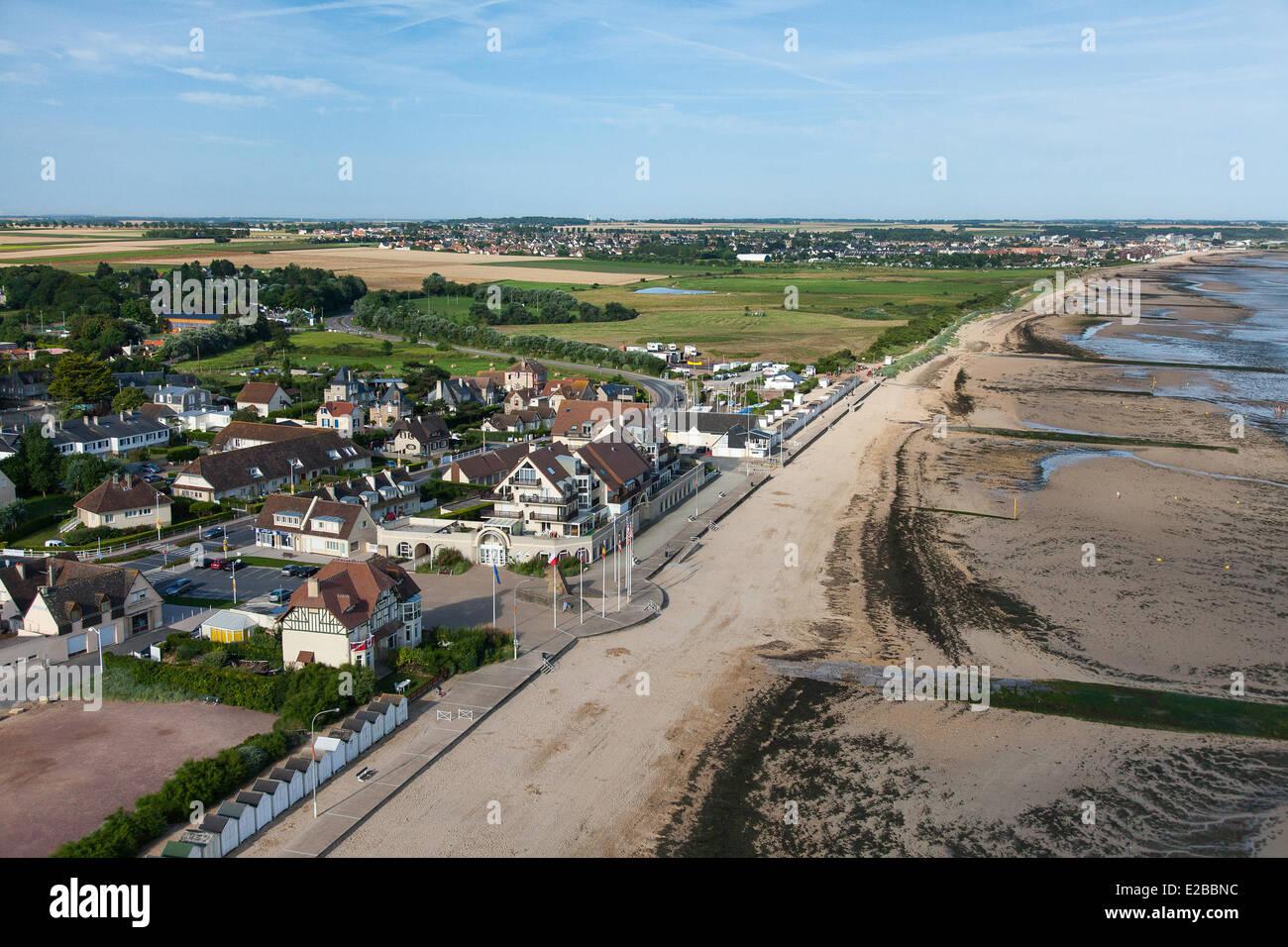Frankreich, Calvados, Bernieres Sur Mer, Juno Beach, Haus der Kanadier, das erste Haus 6. Juni 1944 von kanadischen Stockbild