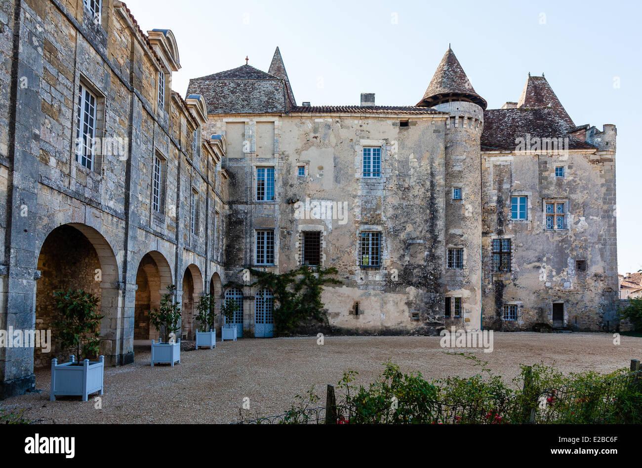 Frankreich, Dordogne, Perigord Vert, Saint Jean de Cole, gekennzeichnet die schöne Dörfer von Frankreich, Schloss Stockfoto