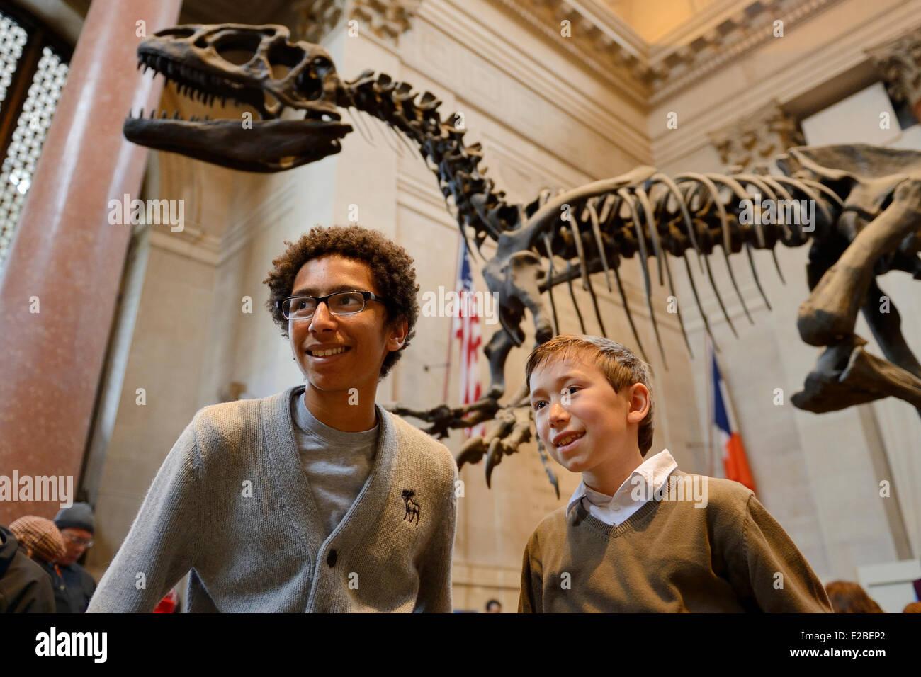 Vereinigte Staaten, New York City, Manhattan, Upper West Side, American Museum of Natural History, Kinder in der Stockbild