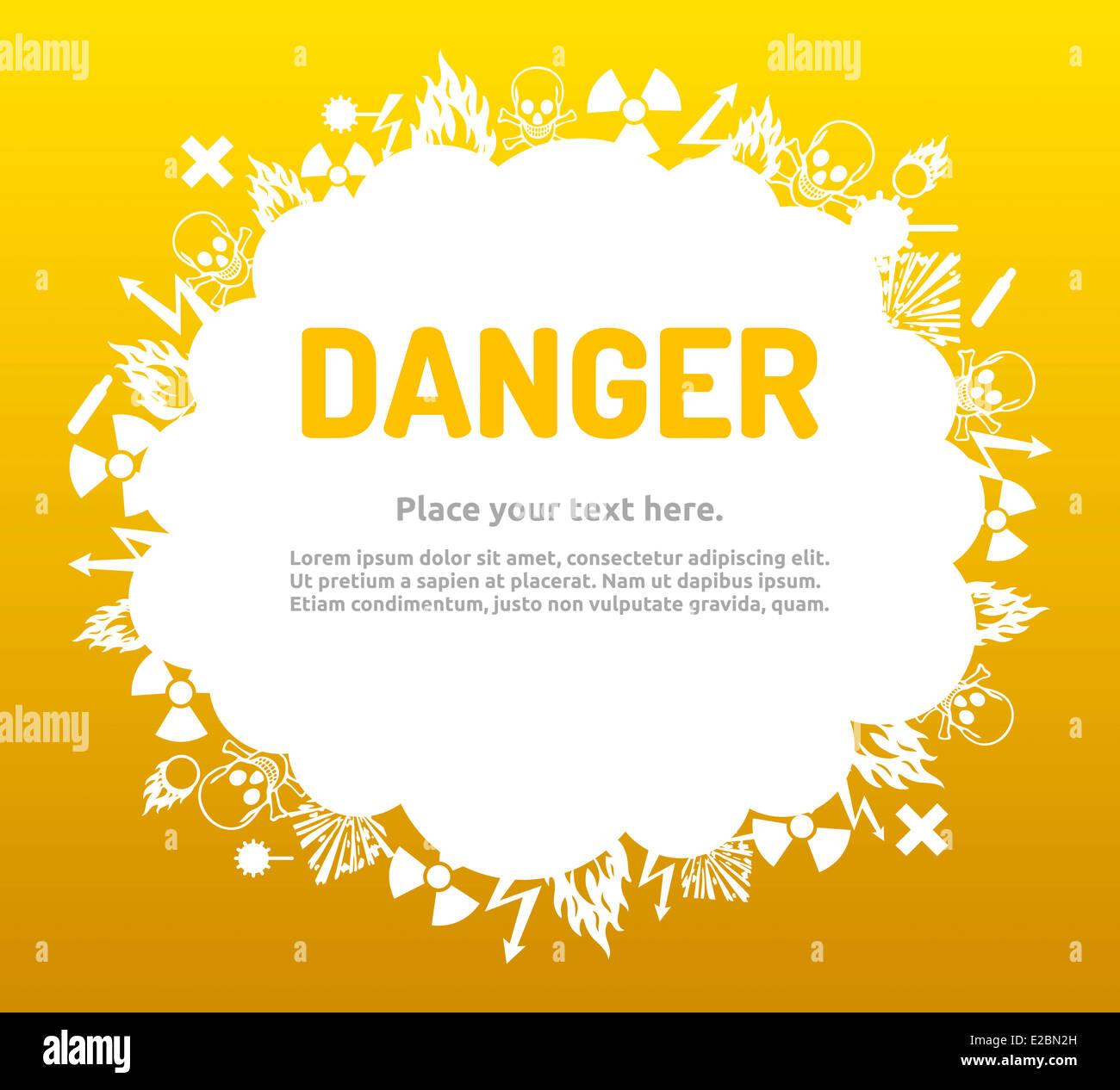 Wunderbar Gefahr Leere Vorlage Bilder - Beispiel Wiederaufnahme ...