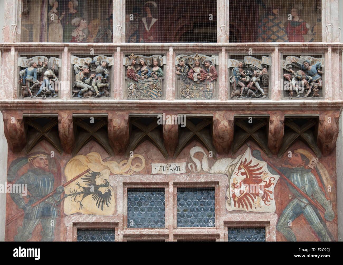 Osterreich Tirol Innsbruck Loggia Des Goldenes Dach Goldenes