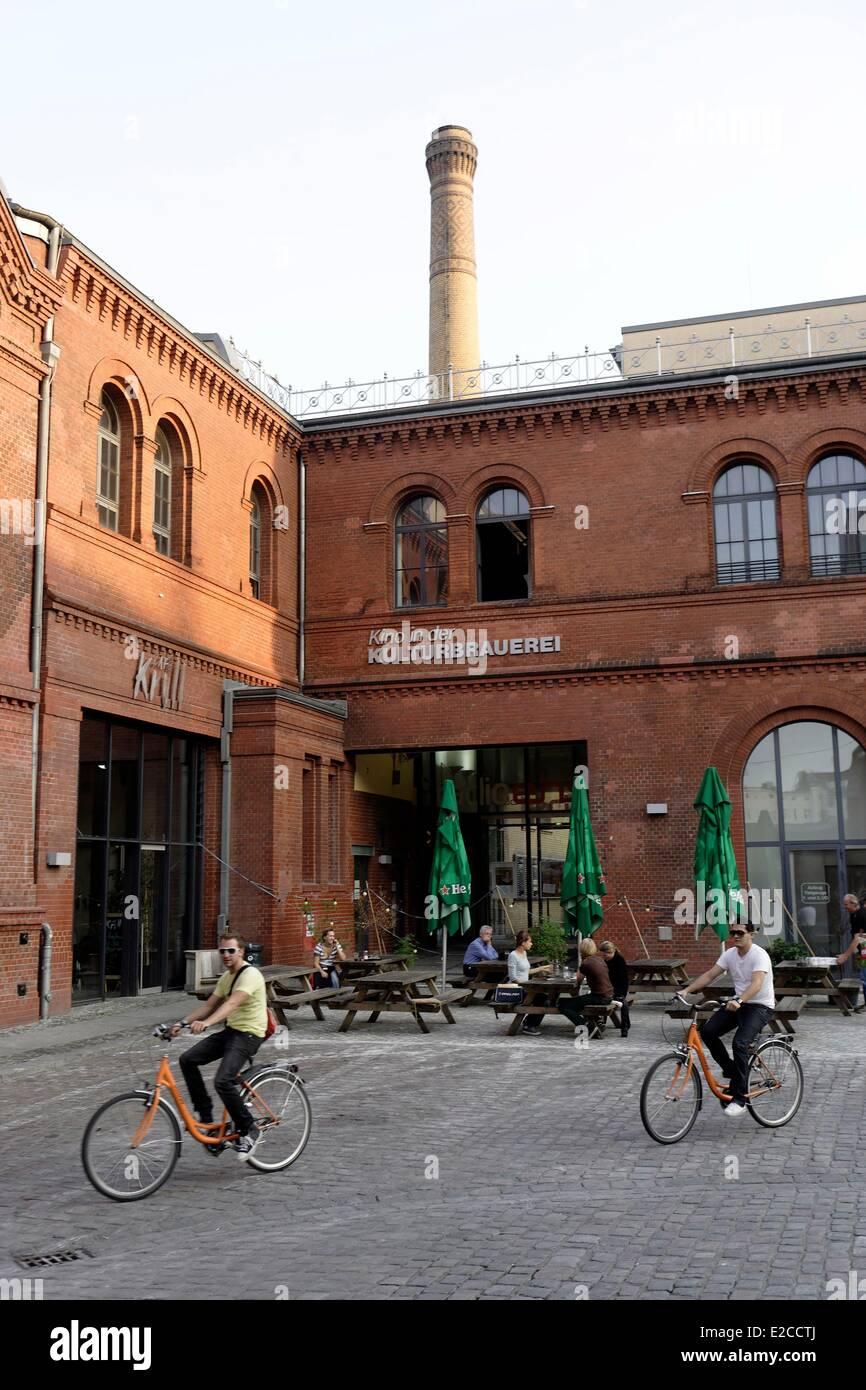 Deutschland, Berlin, Prenzlauer Berg Bereich, Kulturbrauerei auf Knaackstrasse, alte Brauerei in ein Kulturzentrum Stockbild