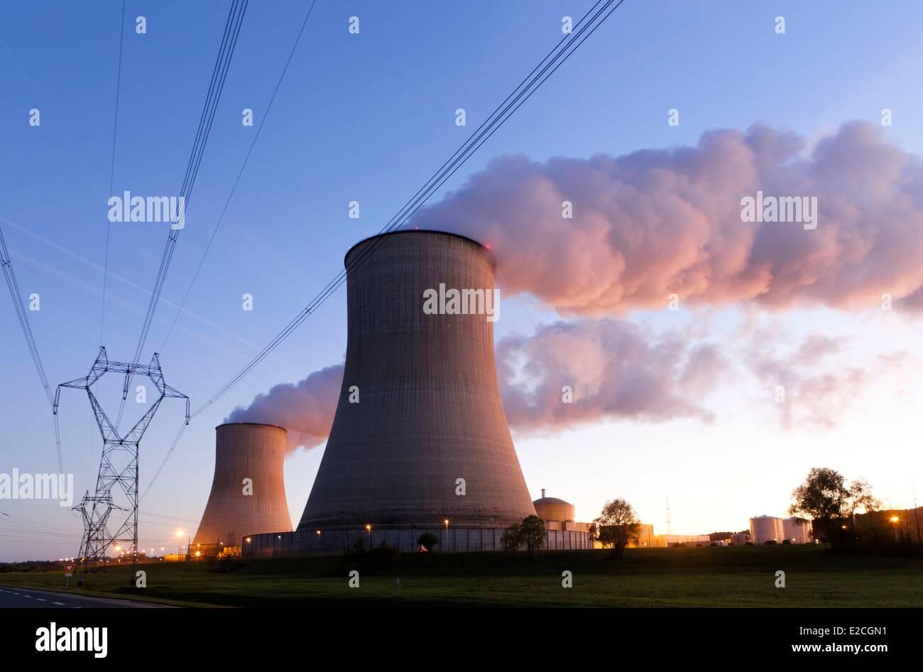 Frankreich, Vienne, Civaux, Kernkraftwerk Stockbild