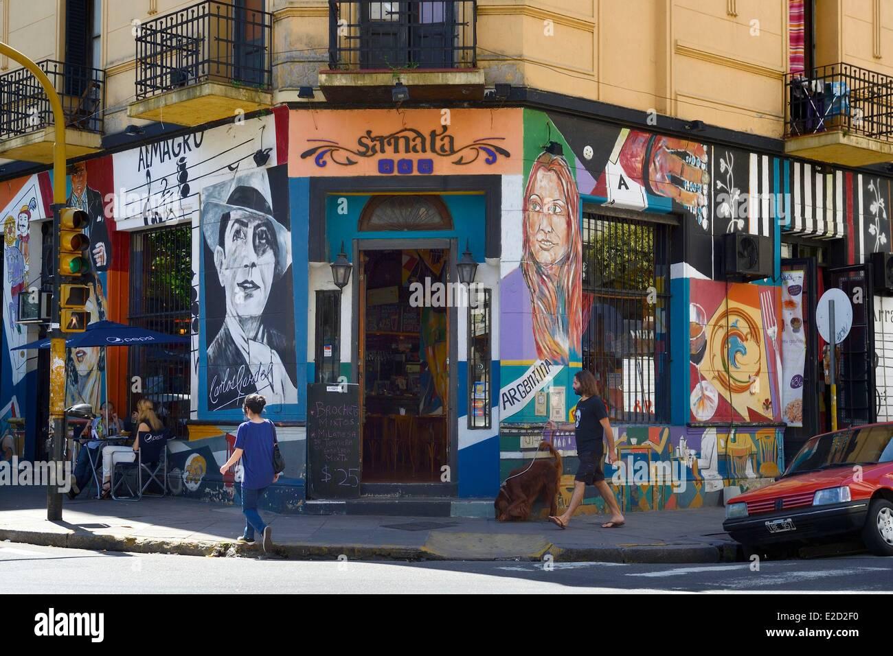 Argentinien Buenos Aires Sanata Bar (Restaurant und Musik) in Sarmiento Straße Wandbild zum Thema Tango und Stockbild