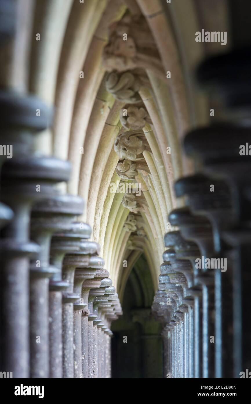 Frankreich-Manche Mont Saint Michel Bay Weltkulturerbe von UNESCO Mont Saint-Michel-Details der Architektur von Stockbild