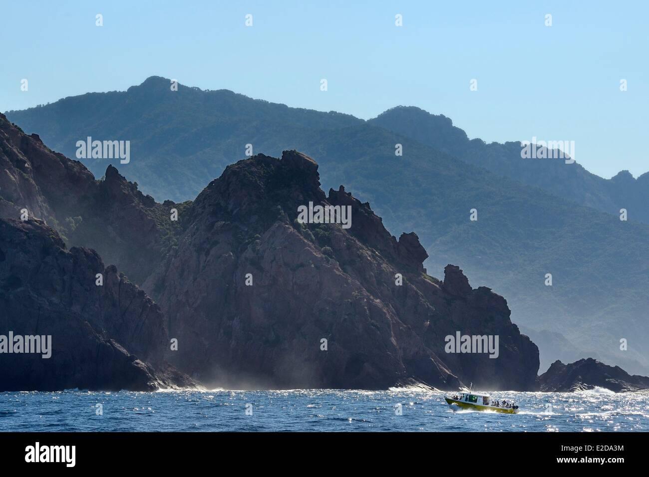 Frankreich, Corse du Sud, Golfe de Girolata, Weltkulturerbe der UNESCO, der Capo Senino Stockbild