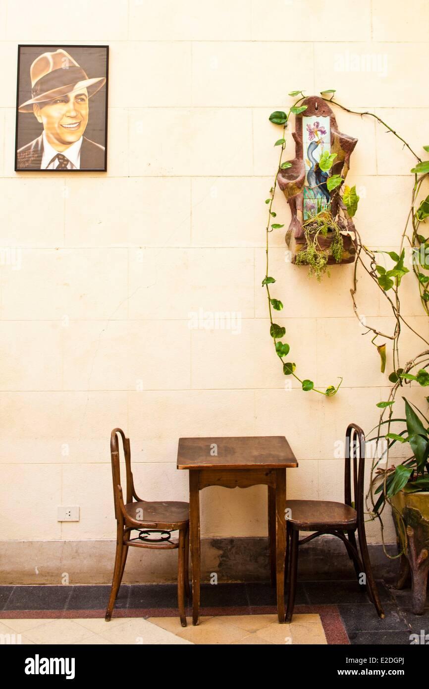 Argentinien Buenos Aires Detail von Carlos Gardel Museum Stockbild