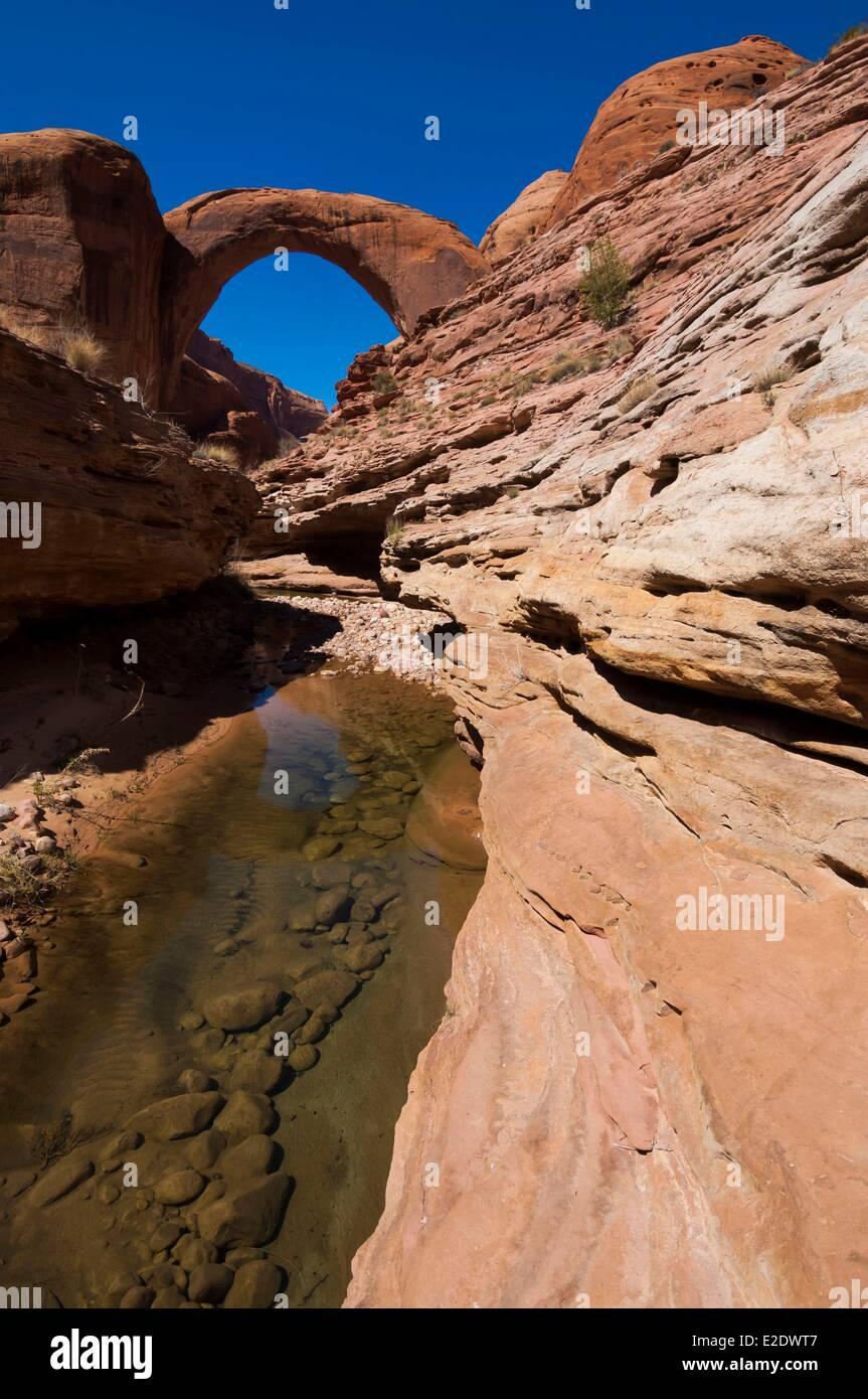 USA Arizona See Powell Regenbogen-Brücke Stockbild