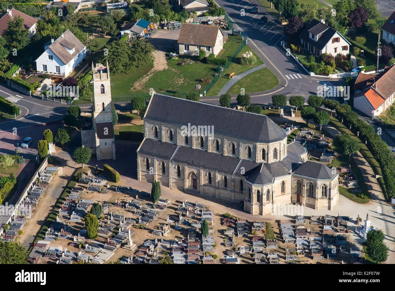 Frankreich, Calvados, Ranville, Französisch zuerst Dorf aufgelassen am D-Day von der britischen 13. Fallschirm Stockbild