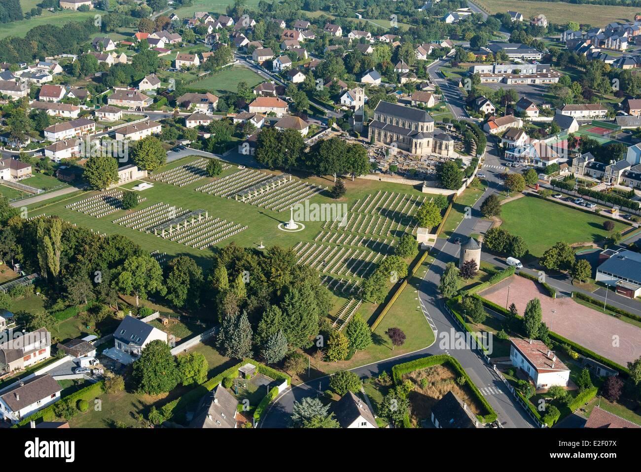 Calvados Ranville Frankreich Französisch zuerst Dorf am D-Day von dem britischen 13. Fallschirm-Bataillon War Stockbild