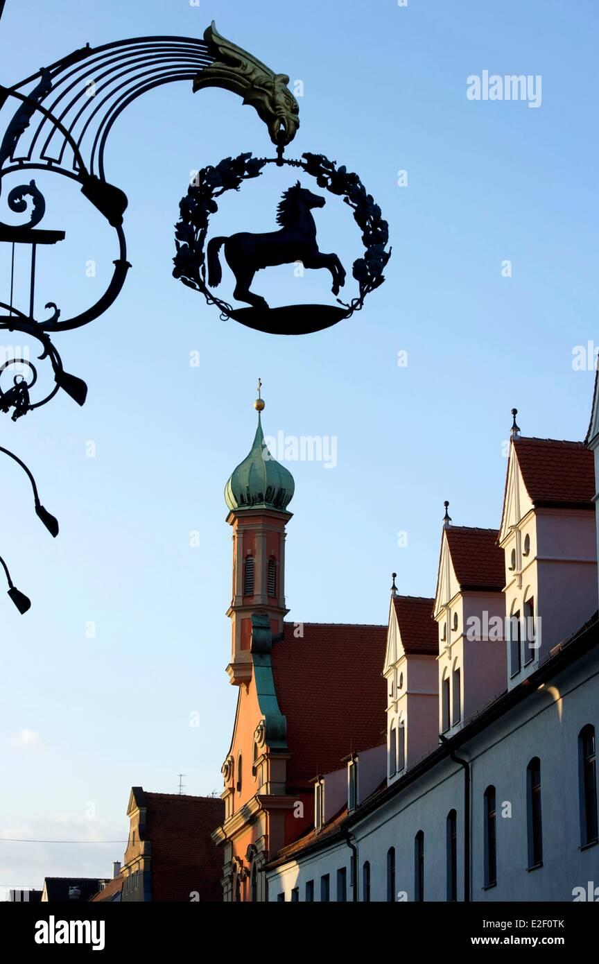 Deutschland, Bayern, Augsburg, Sankt Margareth Kirche Stockbild