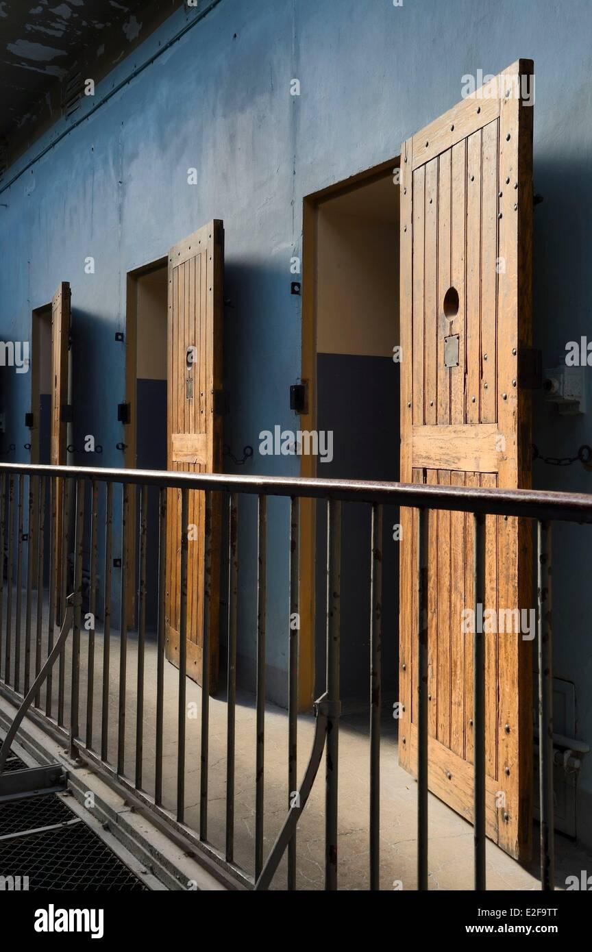 Frankreich, Rhone, Lyon, Montluc Gefängnis Memorial, Zellen aus dem 2. Stock Galerie wo Jean Moulin gesperrt Stockbild