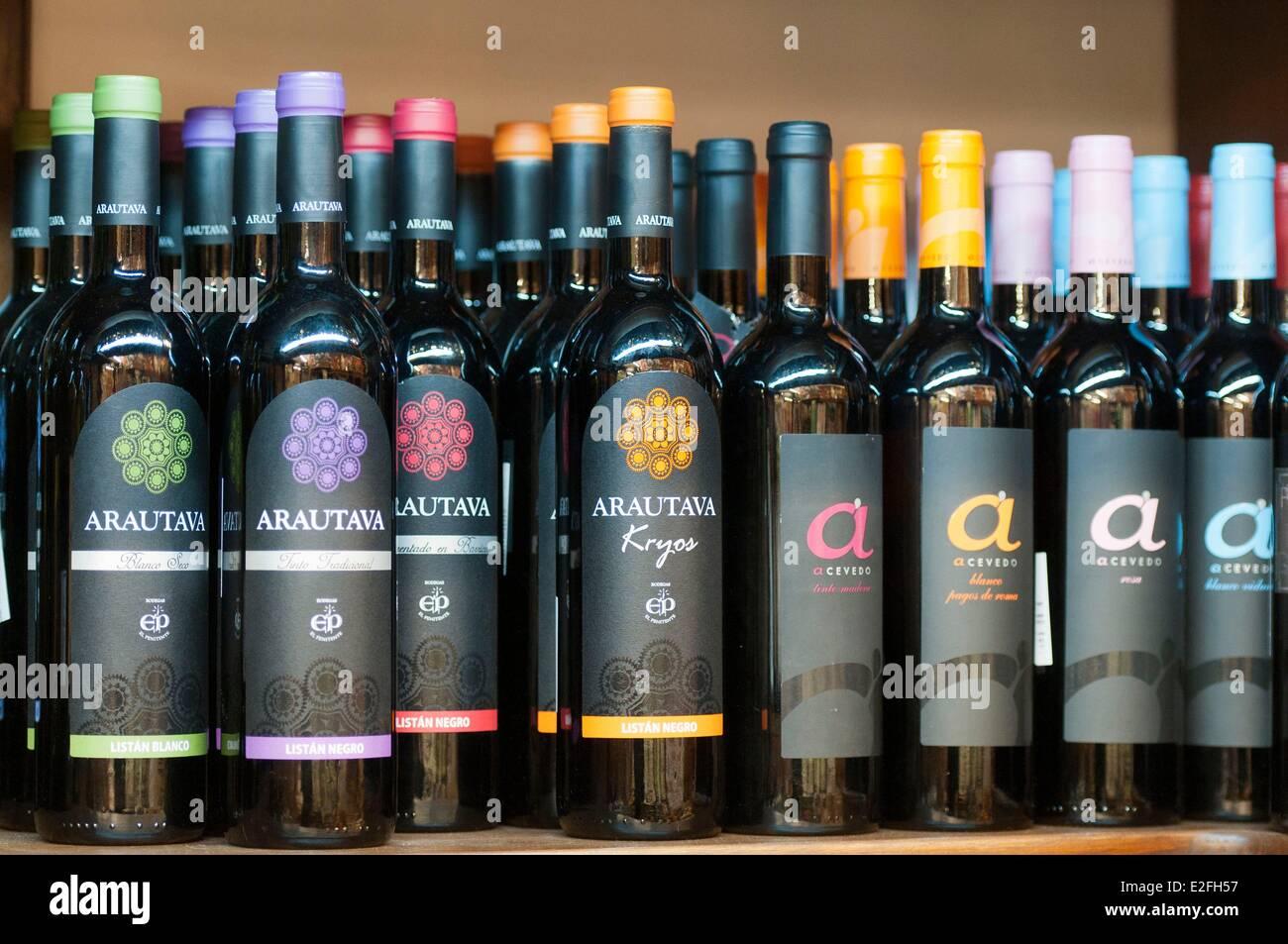 Spanien, Kanarische Inseln, Teneriffa, La Orotava, Kanarische Weine Stockbild