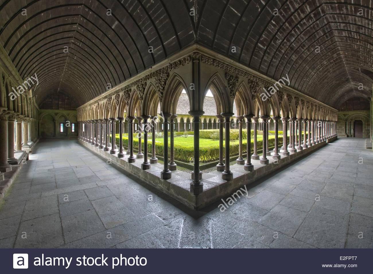 Frankreich Manche Bucht des Mont Saint Michel Weltkulturerbe durch die UNESCO den Mont Saint Michel Abtei Kloster Stockbild