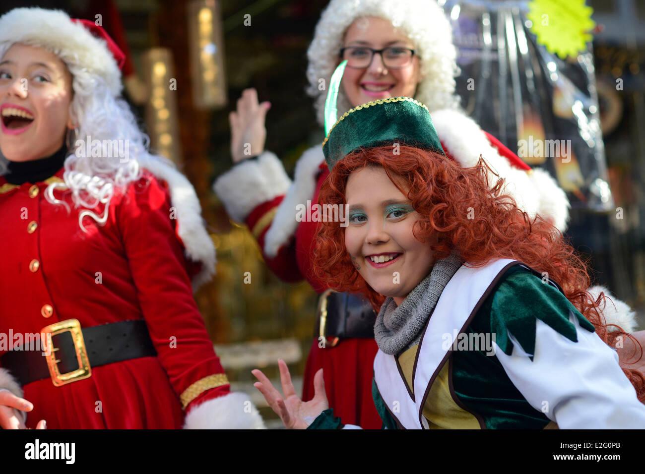 Niederlande Haarlem Weihnachten Animation auf der Straße Stockfoto ...