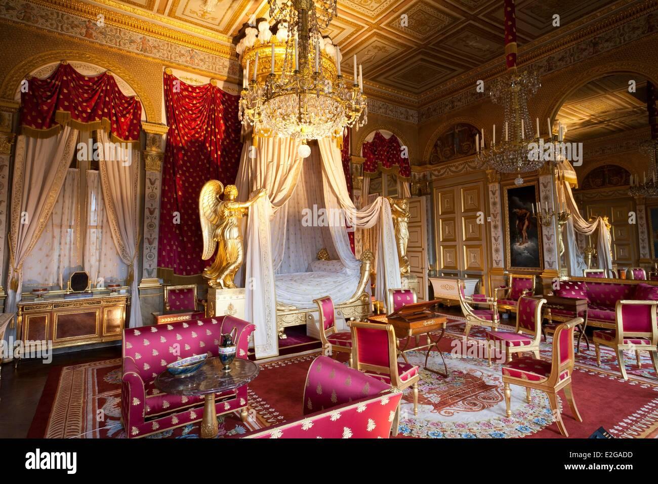 Oise Compiegne Compiègne in Frankreich Schloss Schlafzimmer der ...