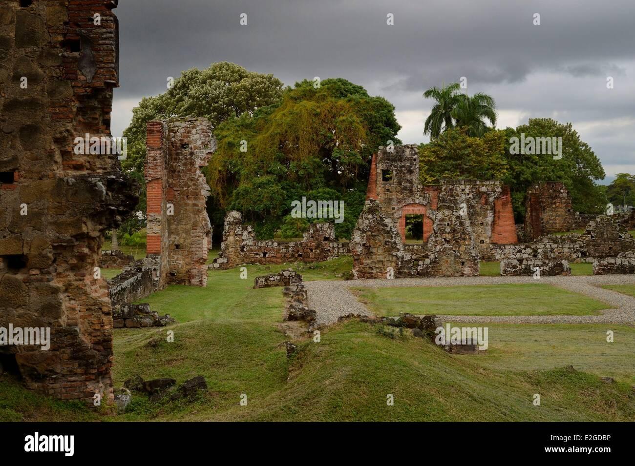 Panama Panama City Panama Viejo historische Ruinen, original Panama-Stadt und erste spanische Stadt auf Pazifikküste Stockbild