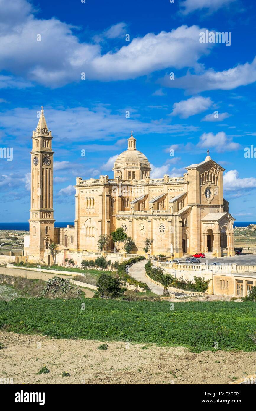 Malta Gozo Insel Gharb Ta'Pinu Basilika Stockbild