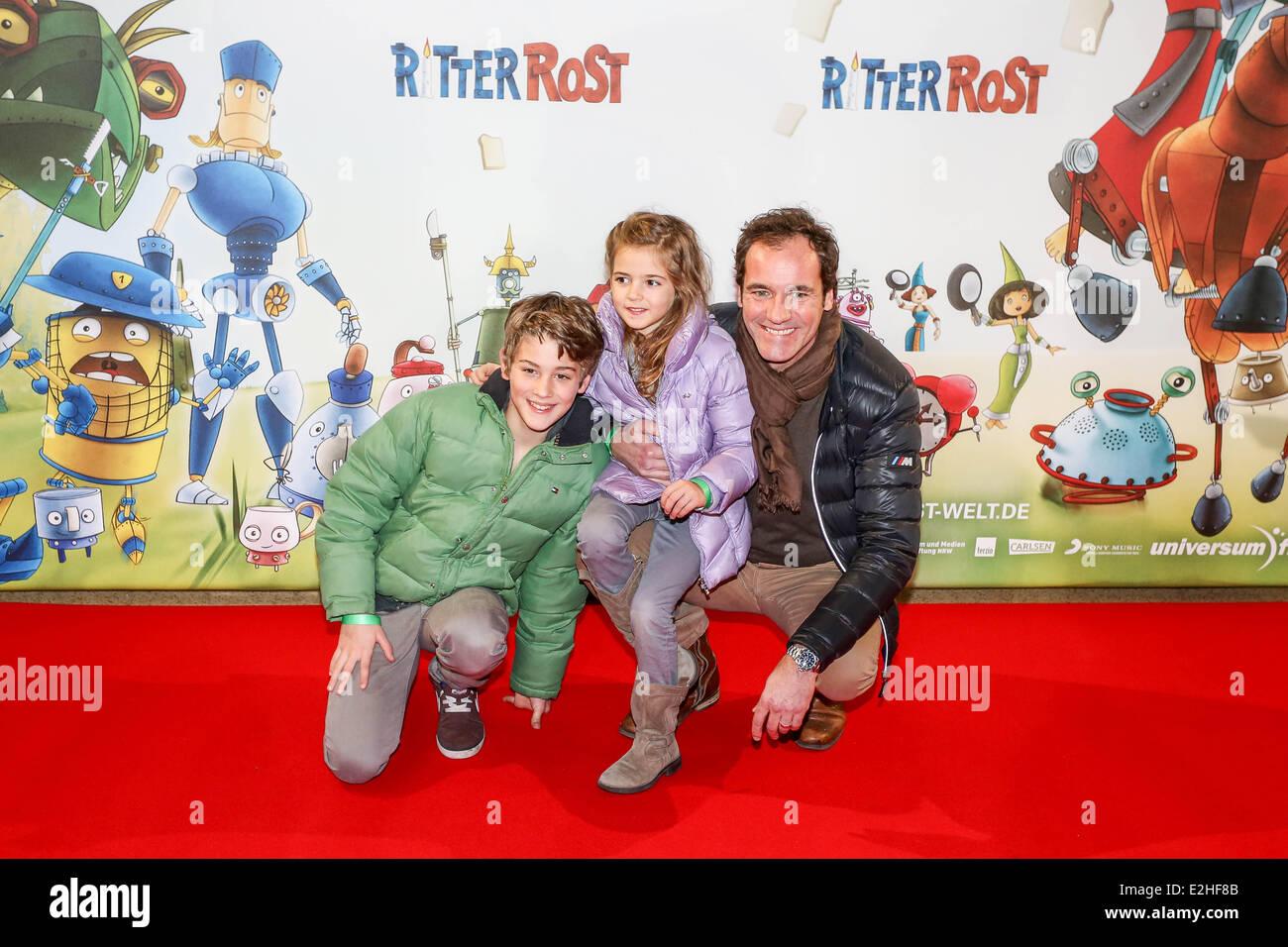 Thomas Ohrner Und Sohn Fabian Und Tochter Pauline Am Ritter Rost