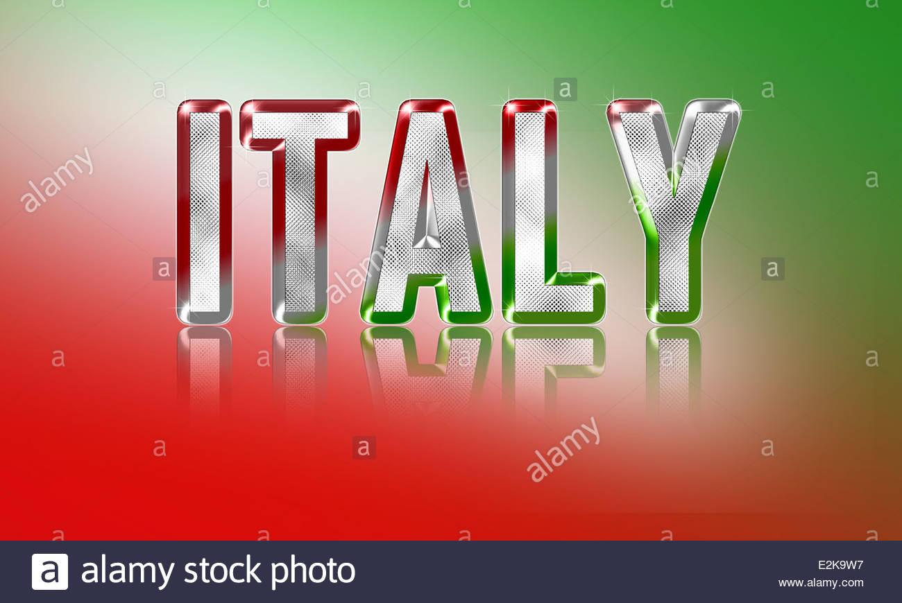 Italien-Design-Konzept Stockbild