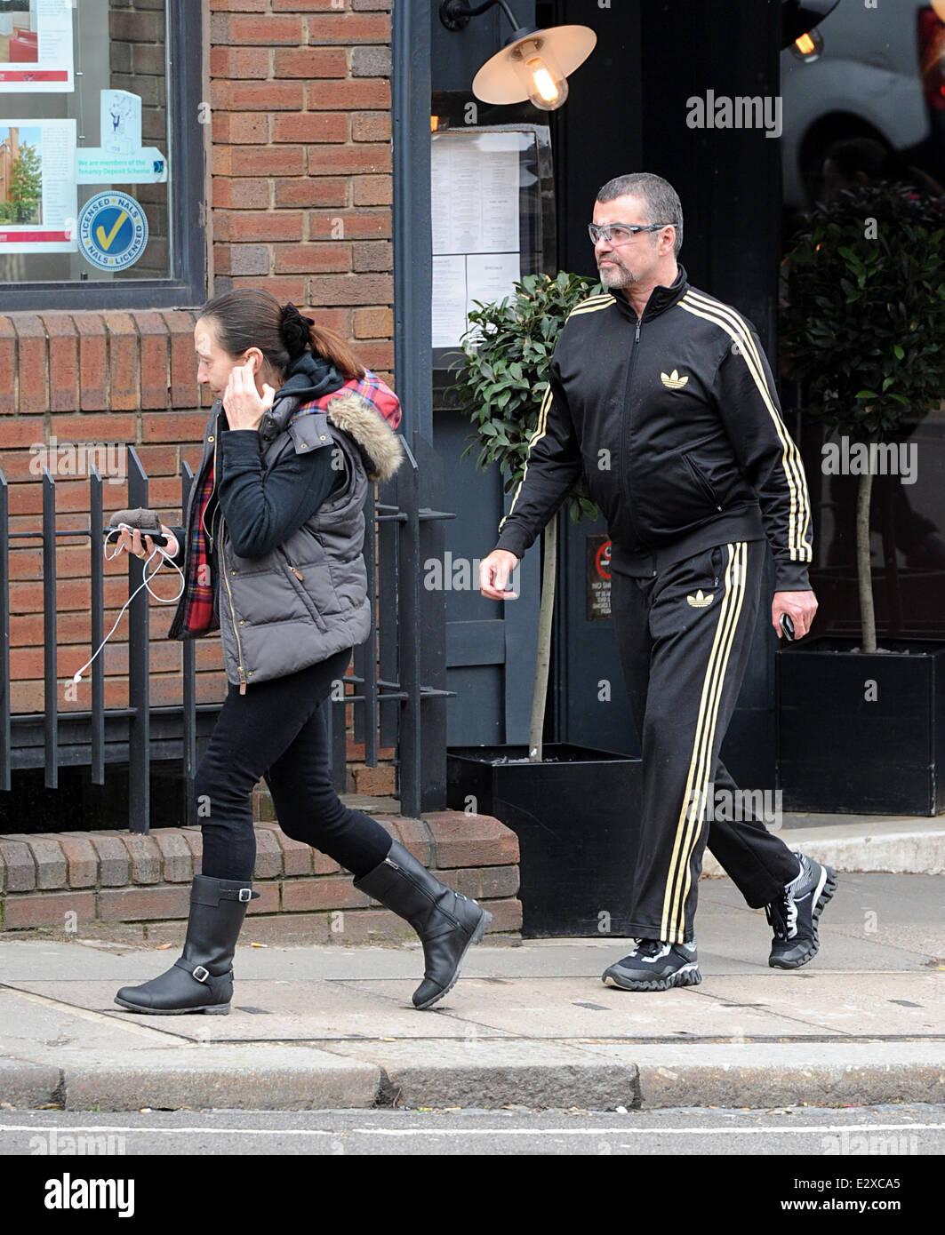 George Michael und ein Freund gesehen Cote Brasserie im