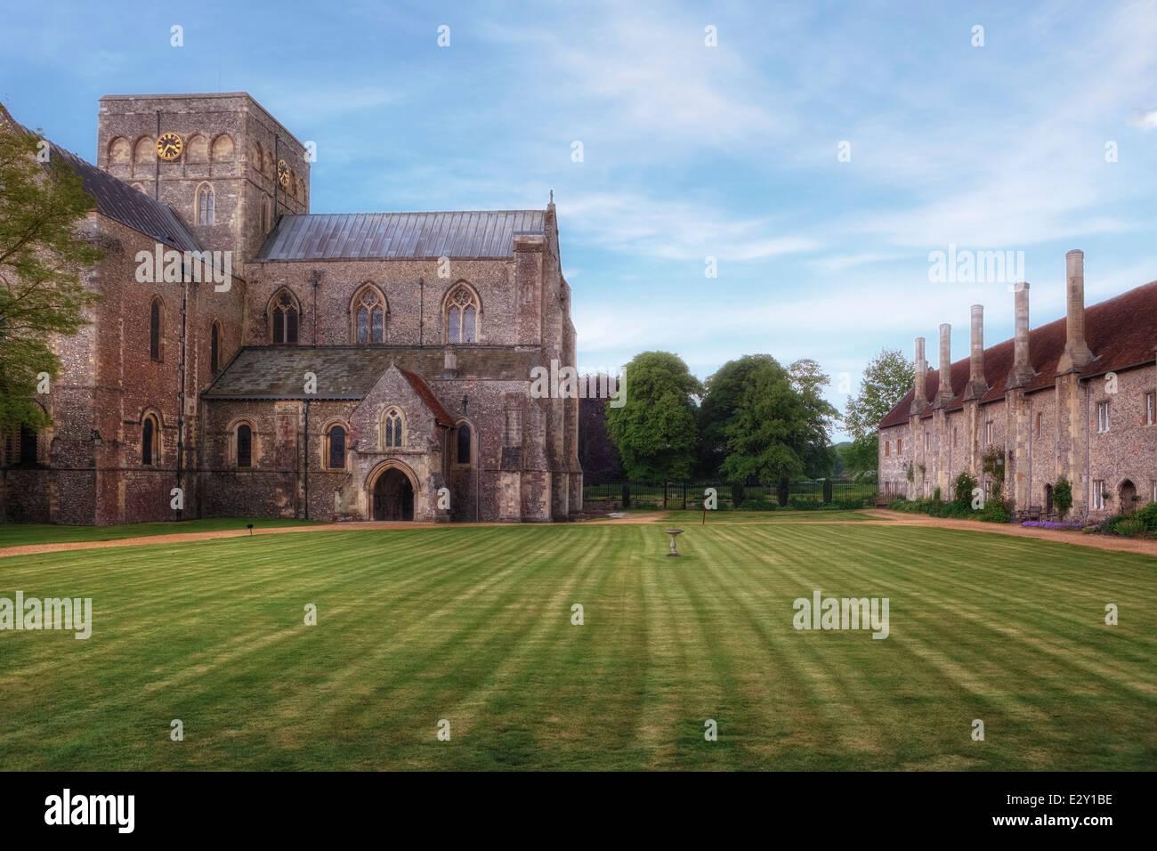 Krankenhaus St. Kreuz, Winchester, Hampshire, England, Vereinigtes Königreich Stockbild