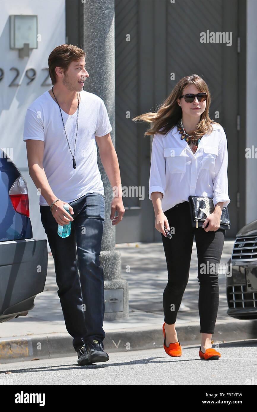 Schauspielerin Sophia Bush gesehen mit ihrem Freund