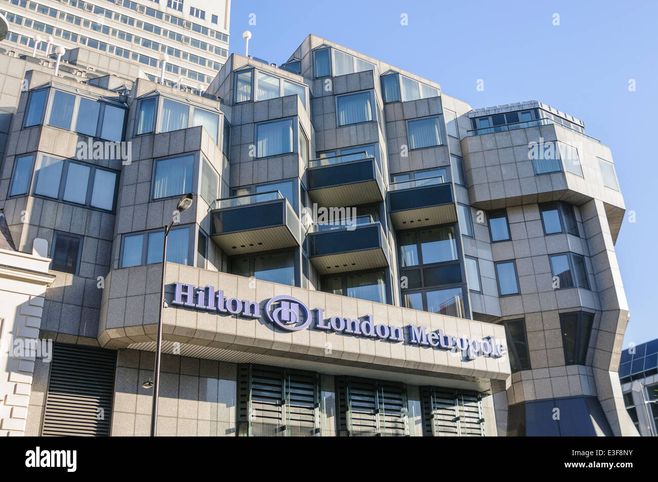 Hilton London Metropole Hotel Stockbild