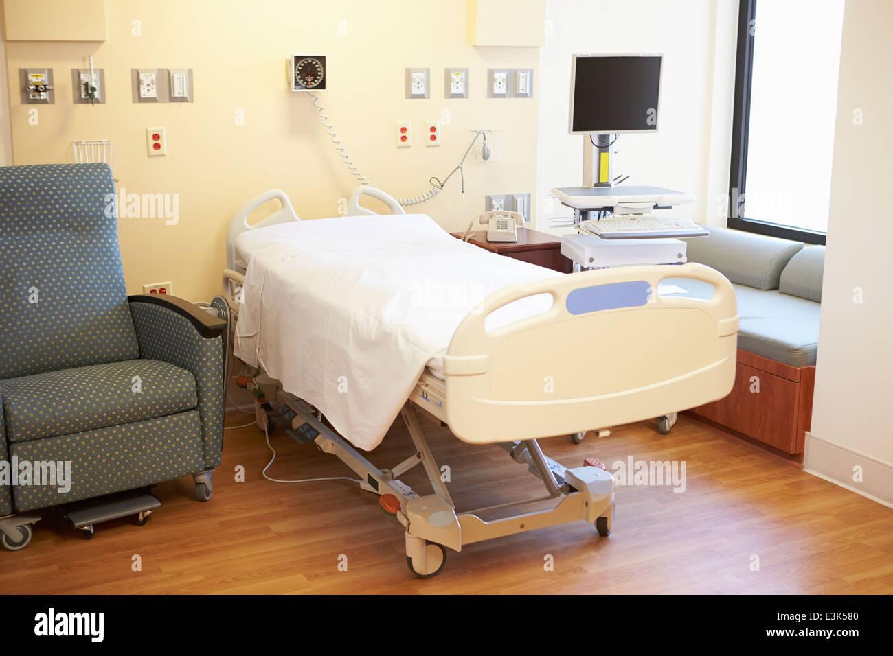 Leeren Krankenzimmer Stockbild
