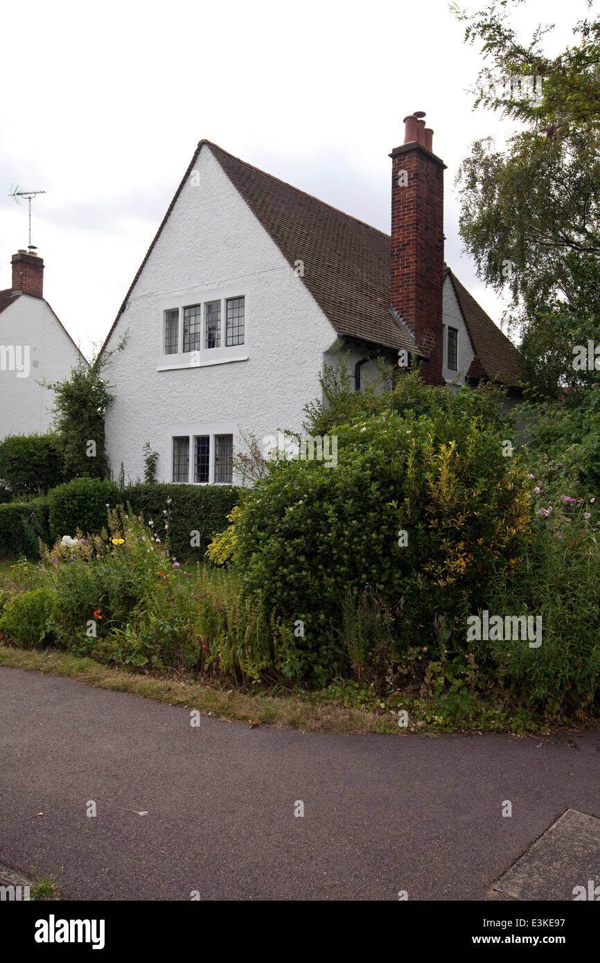 Arts And Crafts Periode Häuser in Letchworth, die weltweit erste ...