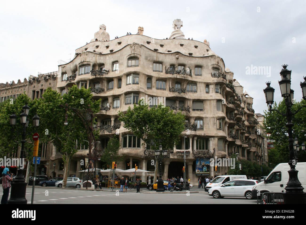 Antoni Gaudi - Casa Mila Stockbild