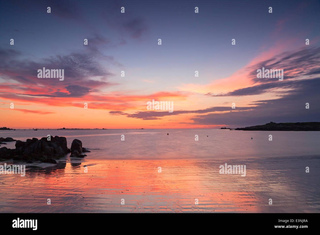 Damen-Bucht-Guernsey Stockbild