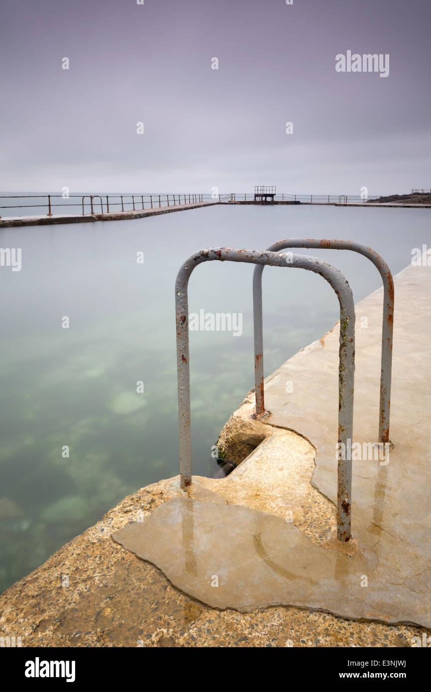 La Vallette unter freiem Himmel Baden Schwimmbäder, St Peter Port, Guernsey Stockbild