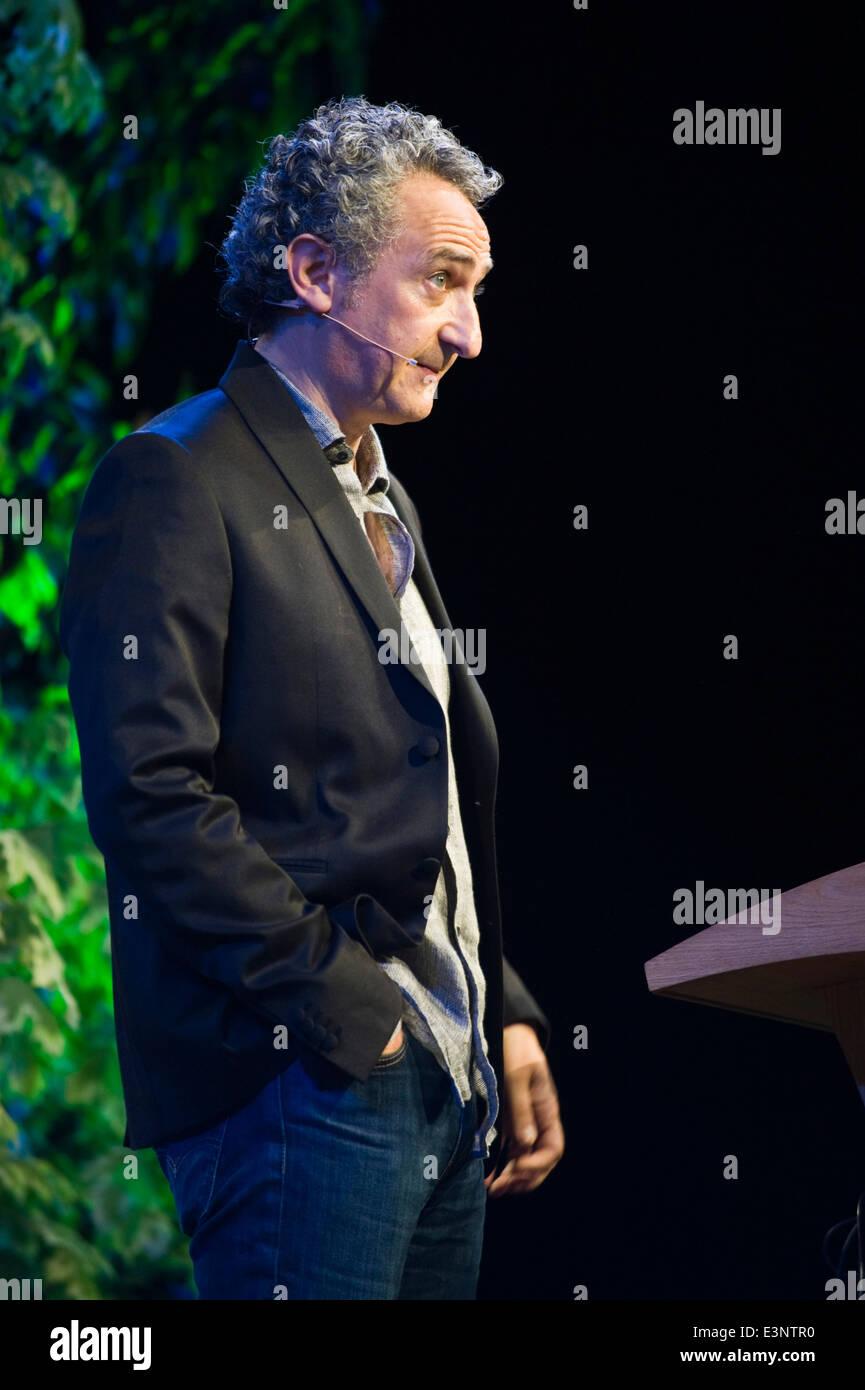 Simon Garfield Lesung in Buchstaben Live-Event bei Hay Festival 2014 © Jeff Morgan Stockbild