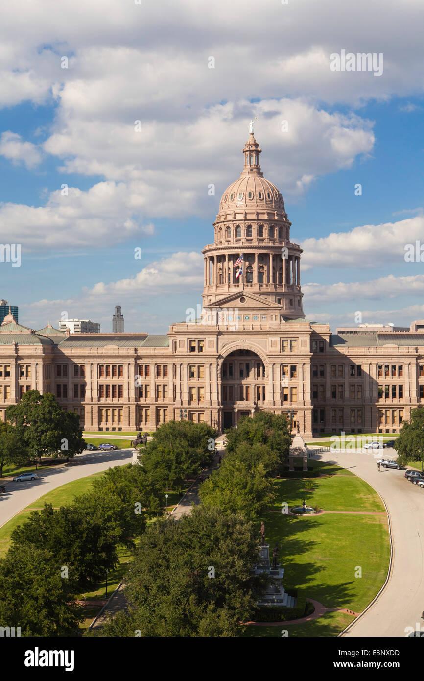 Hauptstadt Staatsaufbau, Austin, Texas, Vereinigte Staaten von Amerika Stockbild