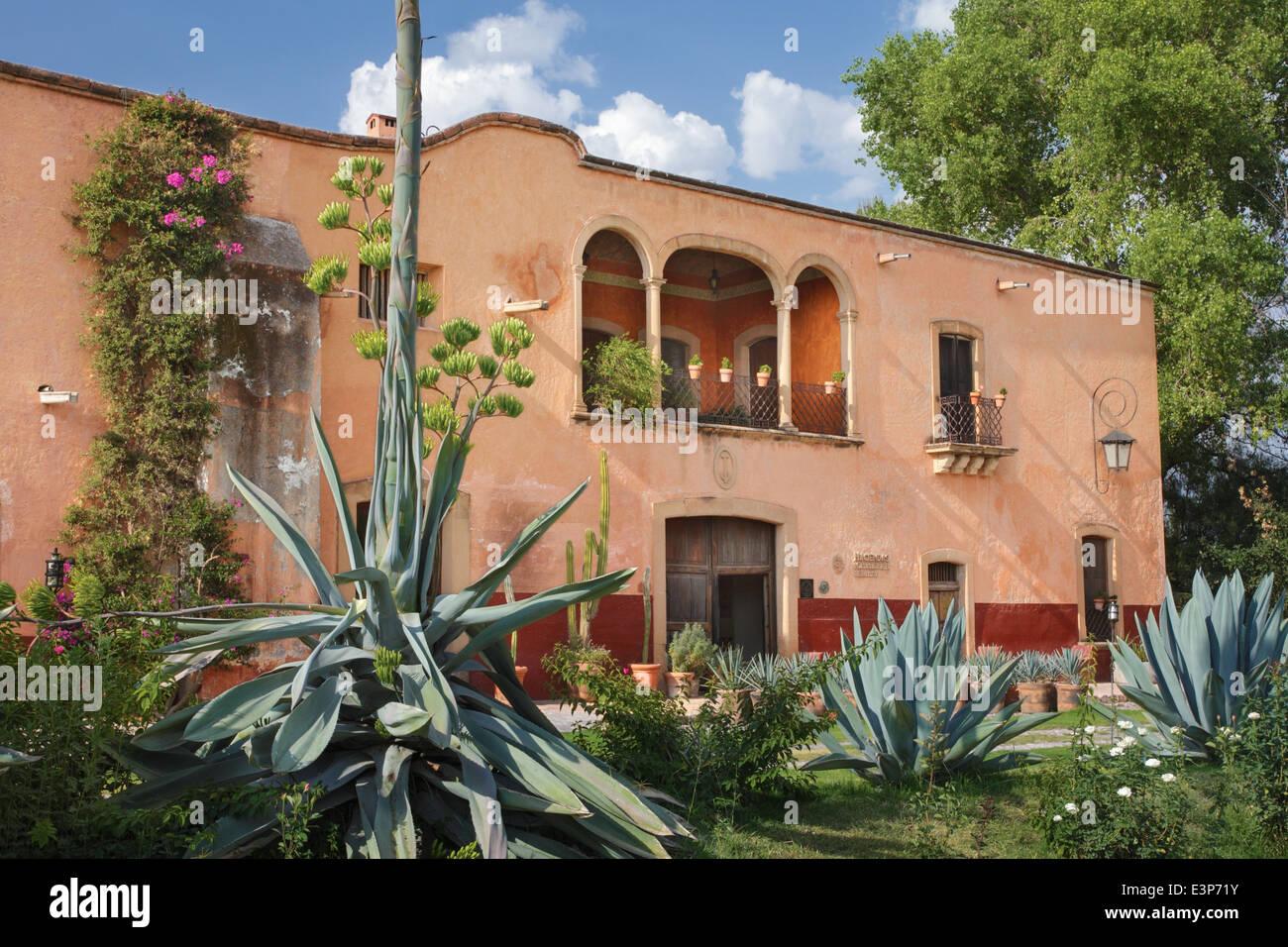 Hacienda Sepulveda in Lagos de Moreno, Jalisco, Mexiko. Stockbild