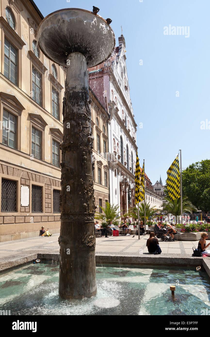 München, Richard Strauss Brunnen   München, Bayern, Deutschland, Europa