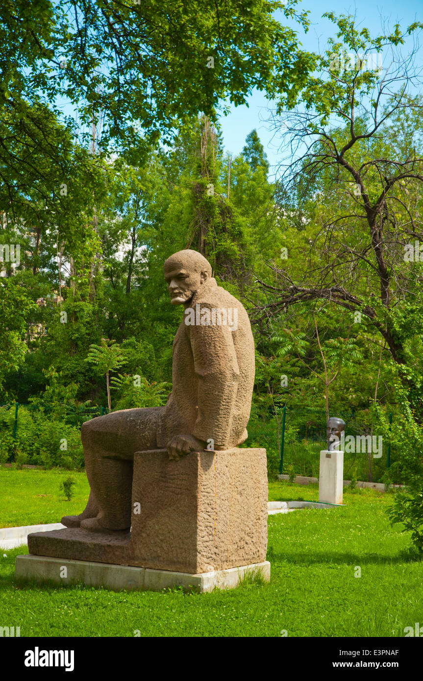 Lenin-Statue, sozialistischen Kunstmuseum, Izgrev Bezirk, Sofia, Bulgarien, Europa Stockbild