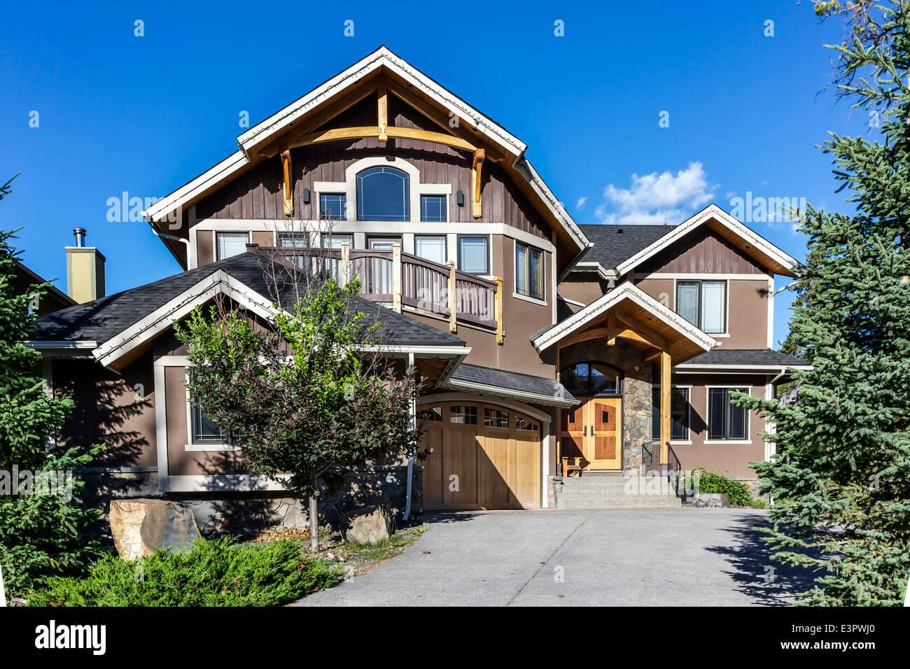 Westlichen amerikanischen Stil Haus in der Vorstadt ...