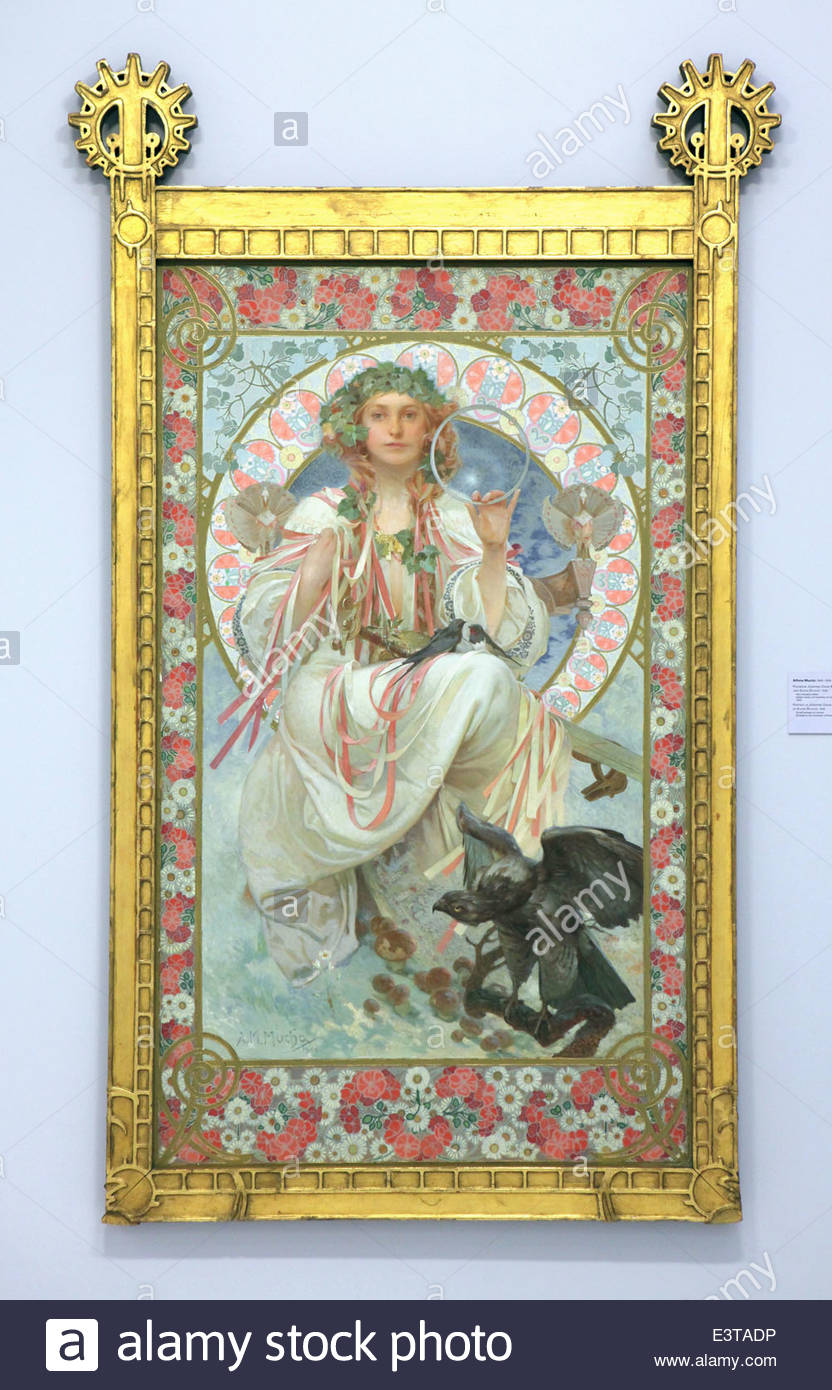 Jugendstil Malerei malerei mit dem titel slavia 1908 tschechischen jugendstil