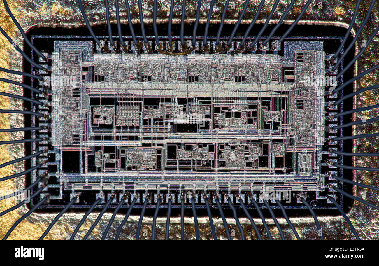 Modernen Mikro gedruckt integrierte Schaltung mit Draht-Verbindungen ...
