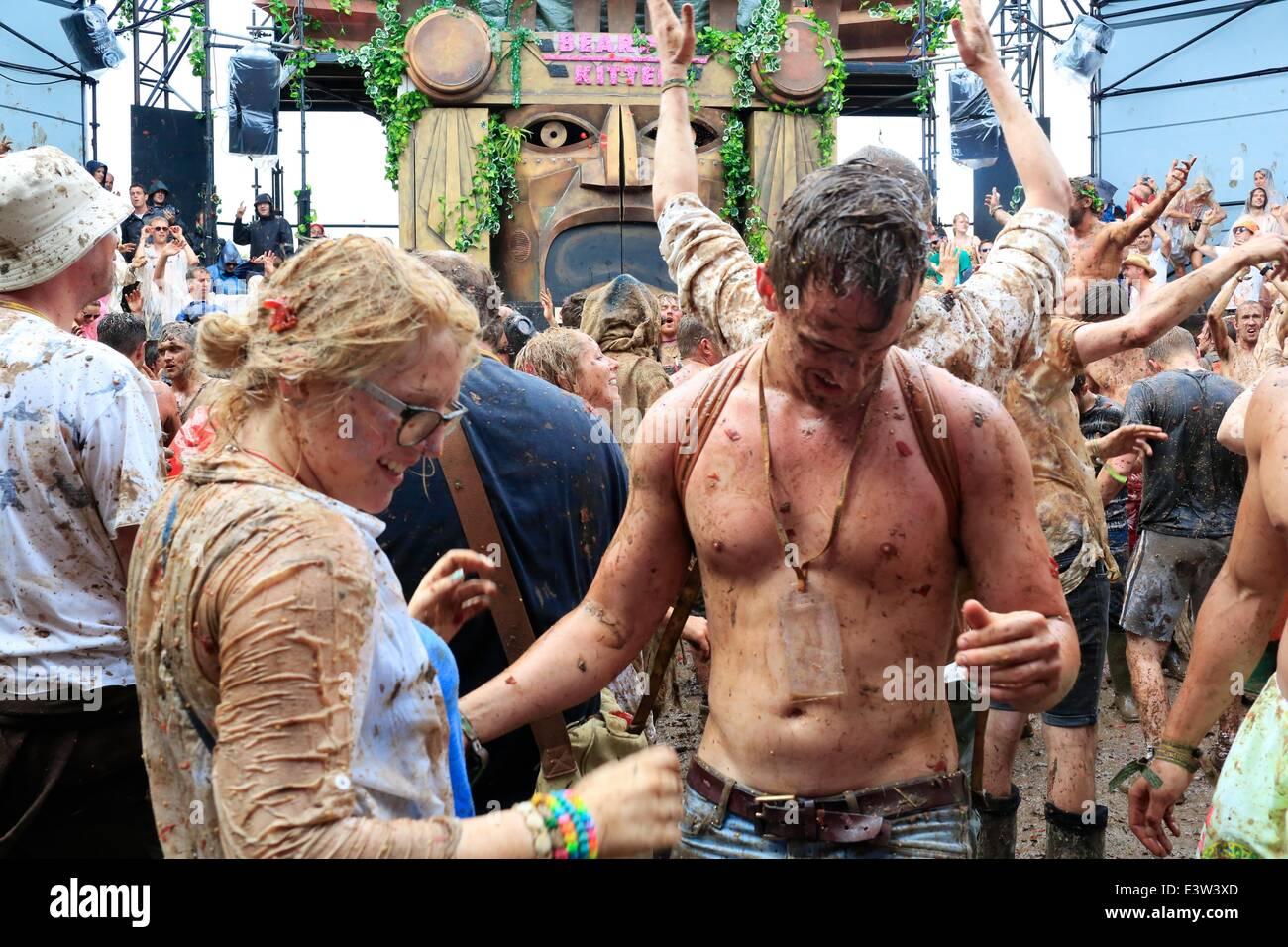 Gemischte duschen festival