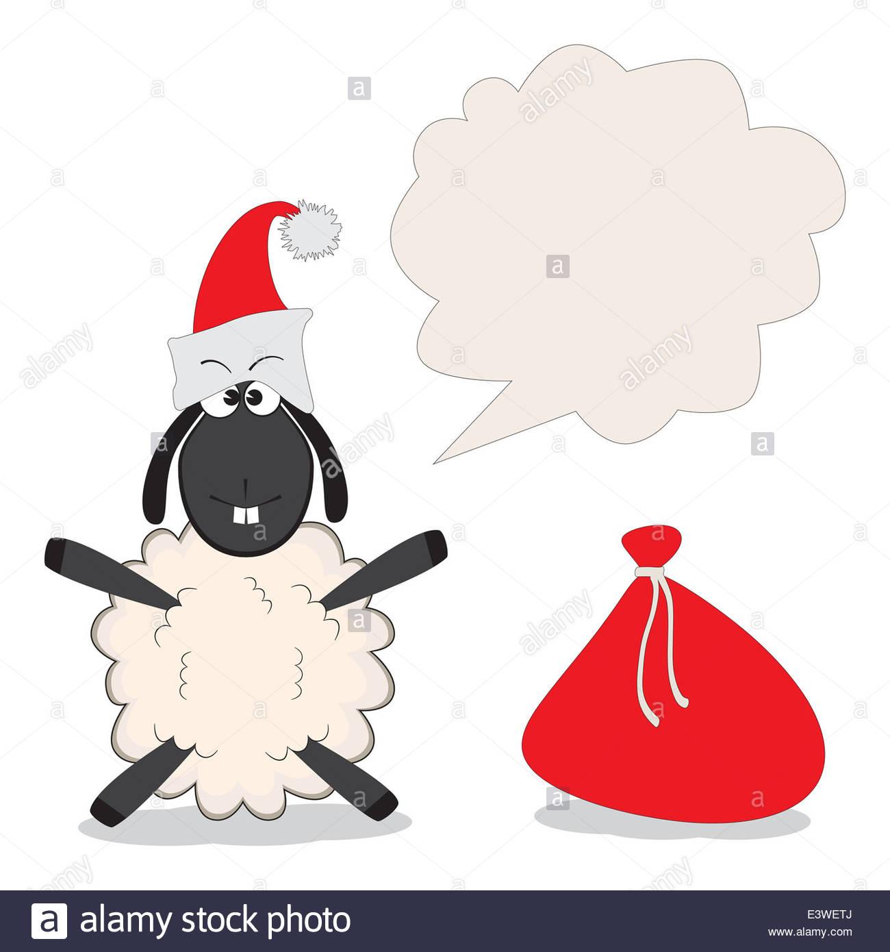 Weihnachten lustig Schafe mit Geschenken Stockfoto, Bild: 71245906 ...