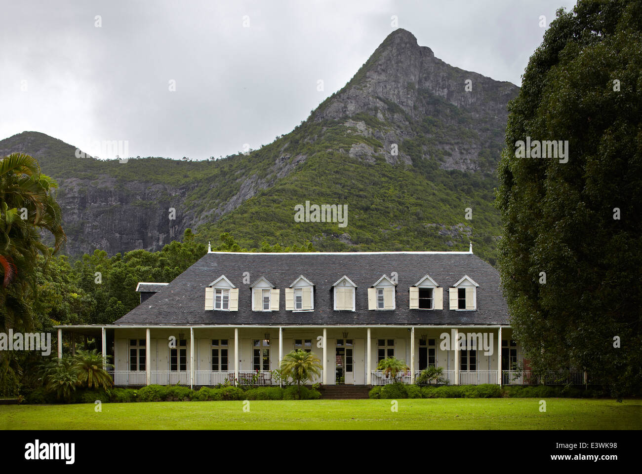 Außenseite des La Maison Creole einen französischen Kolonialhaus, auch bekannt als Eureka oder Haus von Stockbild