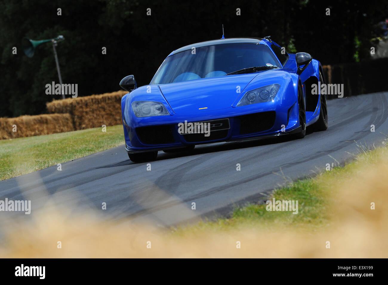 Die Noble M600, angetrieben von Anthony Reid beim Goodwood Festival of Speed. Stockbild