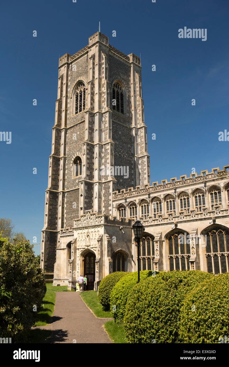 UK England, Suffolk, Lavenham, Pfarrkirche St. Peter und St. Paul Stockbild