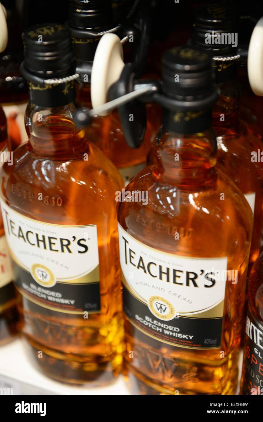 Des Lehrers Highland Cream Whiskey Stockbild