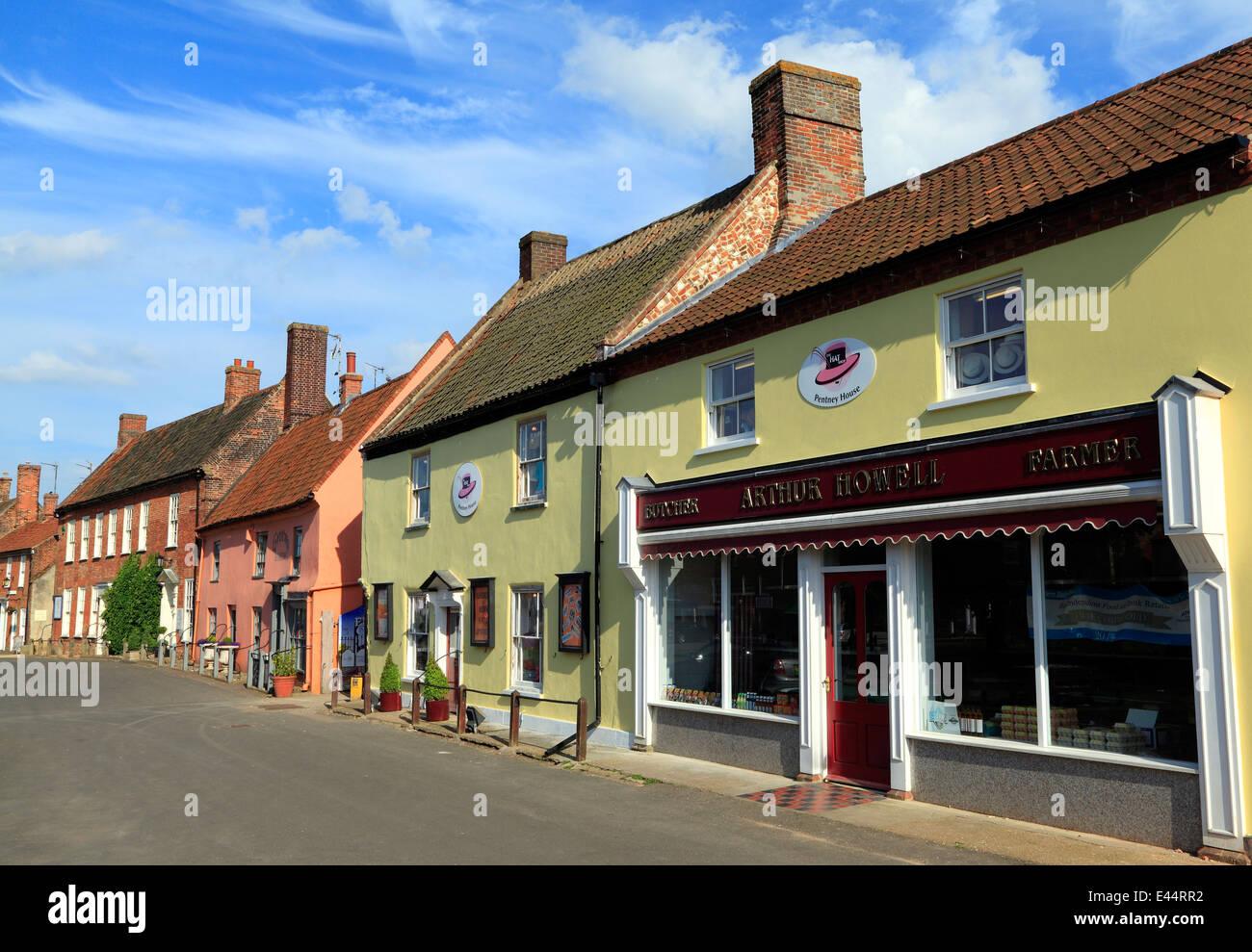 Burnham Market, Norfolk, Geschäfte, Häuser, Hotels, England UK Stockbild