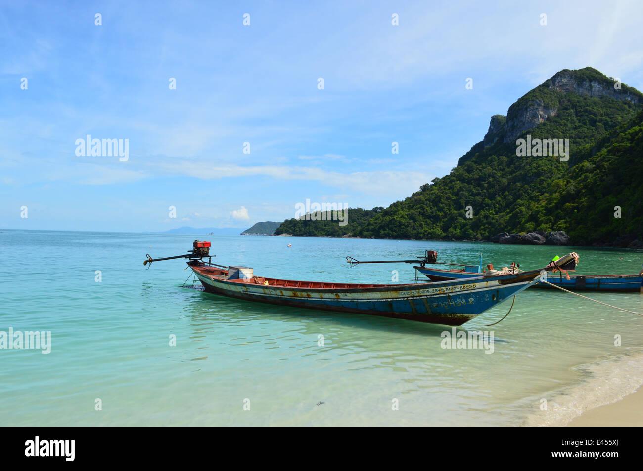 Traditionelle thai Boot, Thailand Stockbild